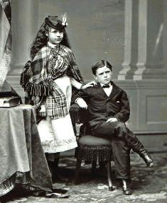 Nellie and Jesse Grant, 1869